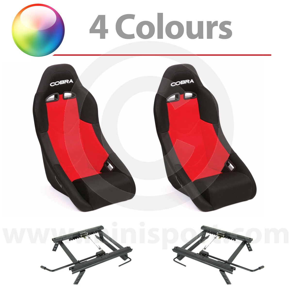 hight resolution of cobra clubman seat package red