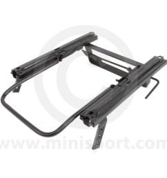 cobsubfr03l left side cobra seat frame locking type for classic mini models [ 1200 x 1200 Pixel ]