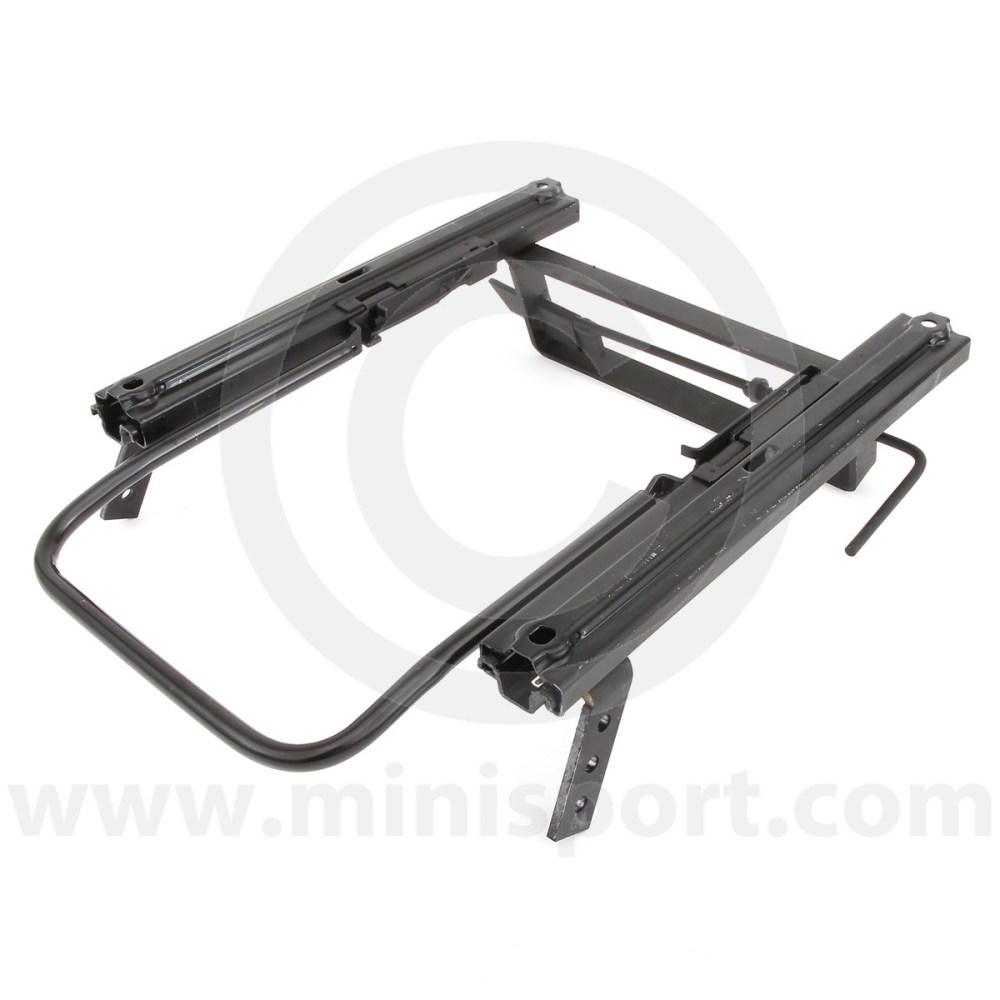 medium resolution of cobsubfr03l left side cobra seat frame locking type for classic mini models