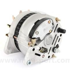 gxe2276 mini alternator 70 amp high output rear connectors [ 1200 x 1200 Pixel ]
