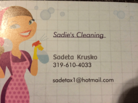 sadie s cleaning care