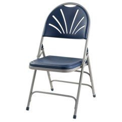 Public Seating Chairs Jysk Christmas Chair Covers National Fan Back Polyfold Folding Navy Plastic Gray Frame By 1115 Stock 96530