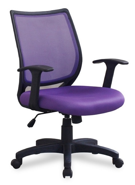 purple task chair faux bamboo chairs ndi office furniture x sel colorful mesh back 1149