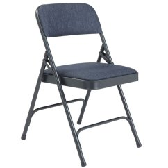 Cloth Padded Folding Chairs Arm Chair Walmart National Public Seating W Double Hinge Blue 2204 Fabric Frame 18 Gauge Steel