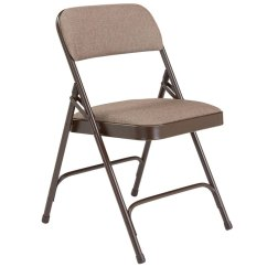 Cloth Padded Folding Chairs Chair 1 2 Recliner National Public Seating W Double Hinge 2207 Walnut Fabric Brown Frame 18 Gauge Steel