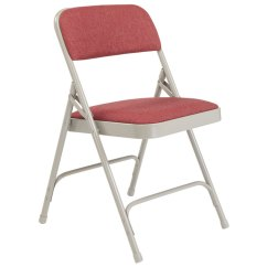 Cloth Padded Folding Chairs Ikea Kid National Public Seating Chair W Double Hinge 2208 Cabernet Fabric Gray Frame 18 Gauge Steel