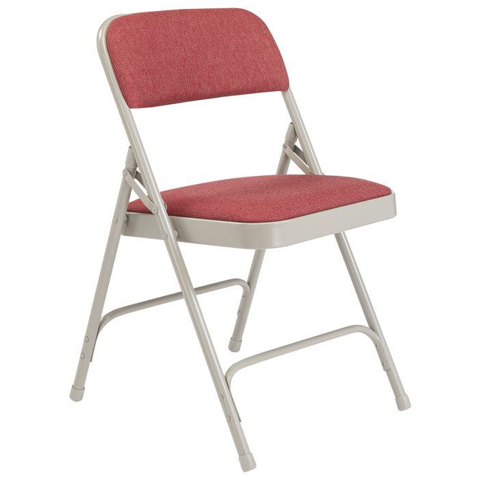public seating chairs gravity lawn national padded folding chair w double hinge cabernet fabric gray frame by 2208 stock 96009