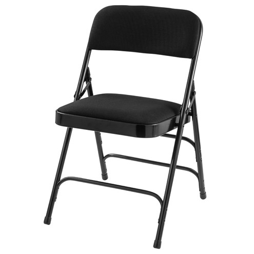 black padded folding chairs paper chair covers for national public seating w double hinge and 2310