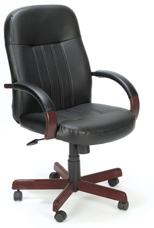 wood and leather executive office chairs country table boss or microfiber chair w frame b8376