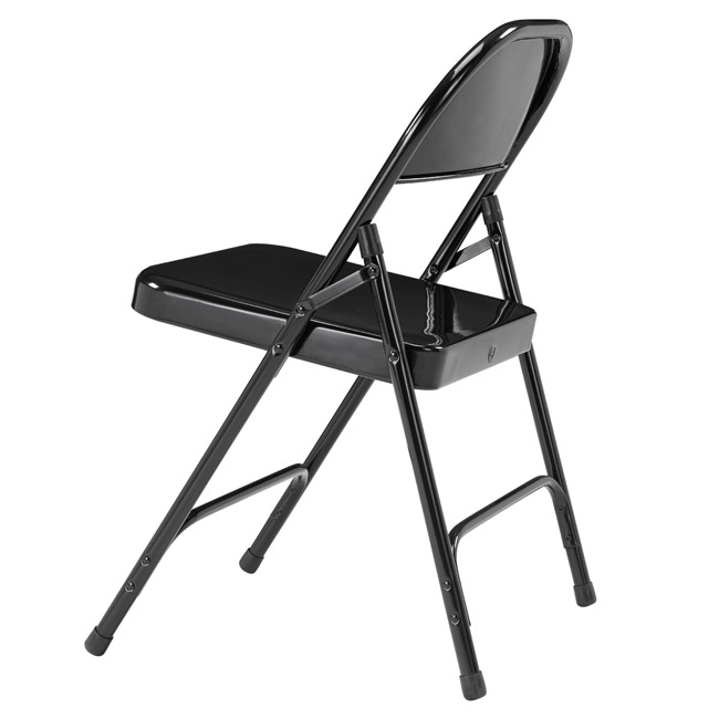 folding chair round tot spot national public seating back black 510 by stock 96073