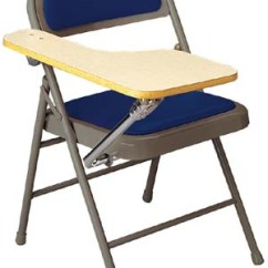 Blue Metal Folding Chairs Garden Relaxer Chair Covers Ki Padded Miracle Fold Tablet Arm Right Hand 704ftar Vinyl Seatback