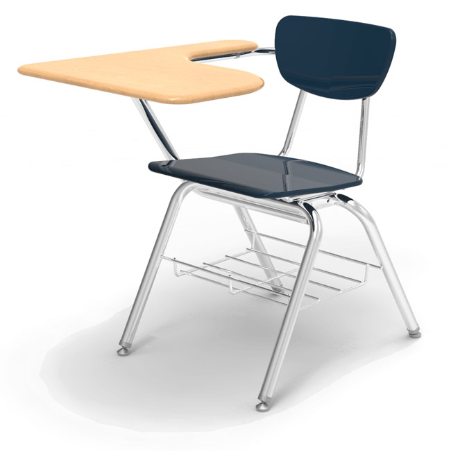 folding chair desk best portable virco solid plastic w bookrack 3700brm combo 3700br with