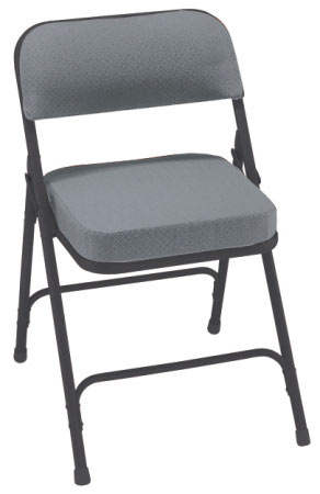 black padded folding chairs butterfly chair covers target national public seating gray fabric 3212 frame 18 gauge steel