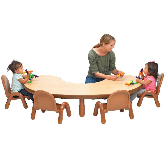 toddler table and chair set desk home goods angeles baseline 38 x 65 kidney ab73912