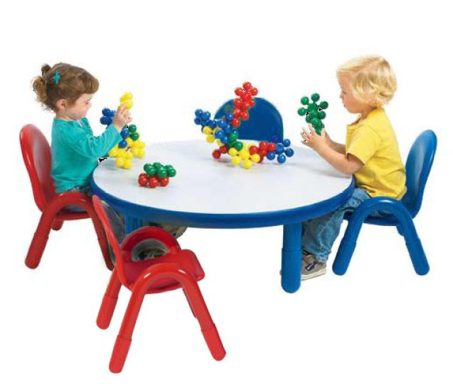 Ab74920 Baseline Preschool Table Chair Set 36 Round