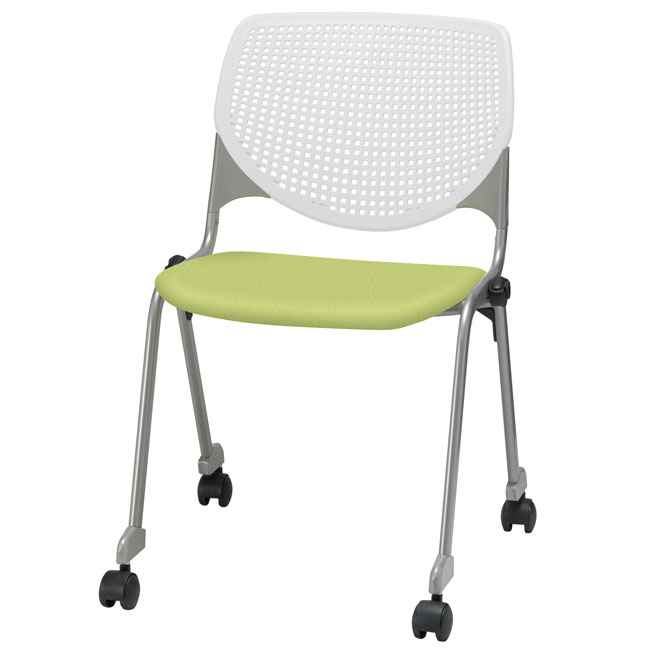 dillon chair 1 2 coleman folding chairs nz kfi seating kool series mobile stack with upholstered seat cs2300u w