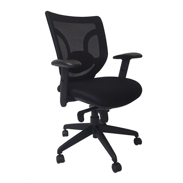 mesh back chairs for office computer chair no arms ofd with lumbar support em90187 3