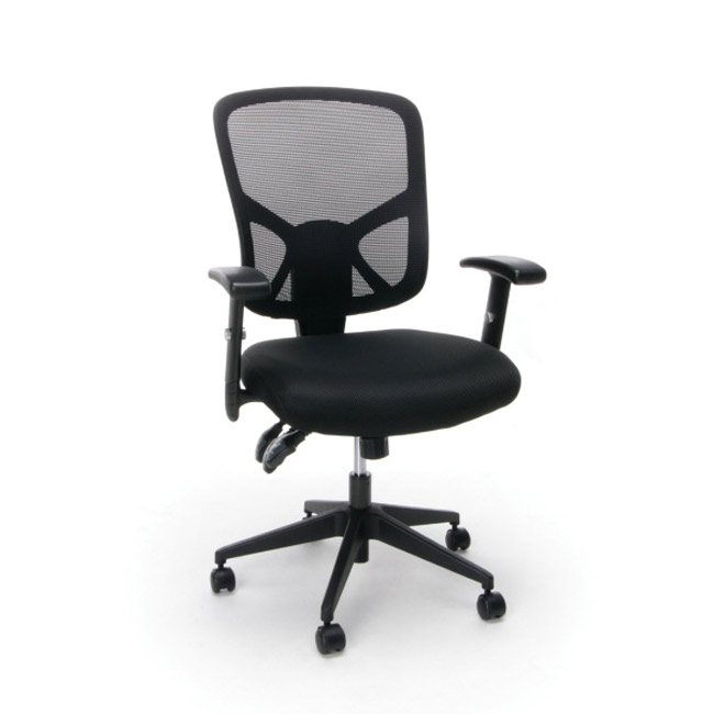 mesh task chair bean bag chairs for adults essentials swivel with arms ess 3050 office 3 paddle ergonomic high back