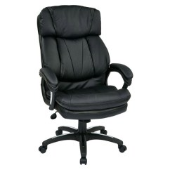 Office Star Chairs Folding And Table Oversized Faux Leather Executive Chair Fl9097 U6