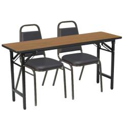 Tables And Chairs Navy Blue Dining Chair Covers Training Table Packages Seminar Worthington Direct