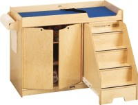 Jonti-Craft Wooden Changing Table With Right Stairs ...