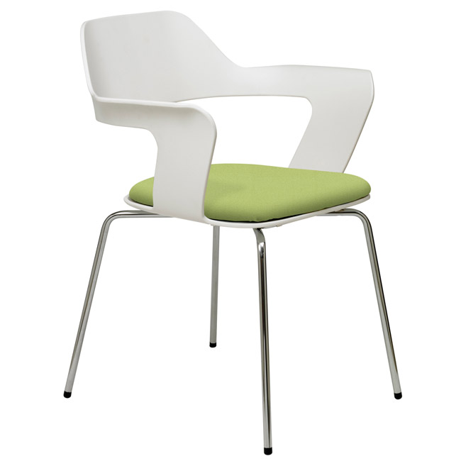 upholstered stacking chairs teak wood lounge kfi seating julep padded stack chair 2500ch plastic