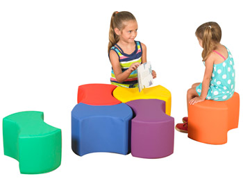 Childrens Factory Bowtie Soft Seating Set Cf805 010