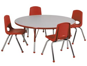 round table and chairs clear desk all activity chair package by ecr4kids options preschool packages