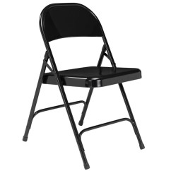 Folding Chair Round Dining Room Upholstery Fabric National Public Seating Back Black 510 By Stock 96073