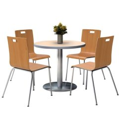 Round Base Chair Black Velvet Chairs Kfi Seating Silver Cafe 42 Table With Four Jive Stack By T42rd Xx 9222 Stock 97496