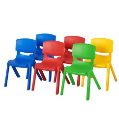 Plastic Resin Chairs Retro High Chair Ecr4kids Assorted Pack Of 6 14 H Elr 15136 As