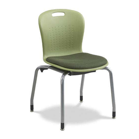 Virco Sage Contract Stack Chair W Padded Seat 1812 H  Sg1p  Plastic Stacking Chairs