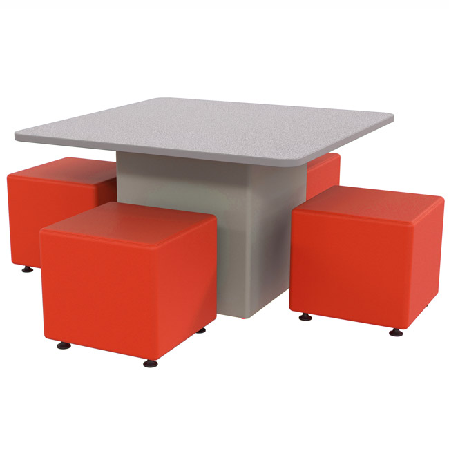 sonik square table square ottoman package 29 h table w 18 h seats