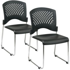 Office Star Chairs With Storage Ottoman Sled Base Stack Chair Stc865c2 3 Guest And Ofd 865