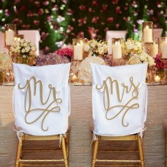 Mr And Mrs Chair Signs Lawn Folding Chairs Invitations More Photos Laser Cut Gold In Mediterranean Ballroom At The Breakers On White Covers