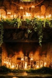 Reception Dcor Photos - Fireplace Full of Candles ...