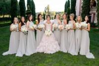Brides & Bridesmaids Photos - Light Grey Ruffle Bridesmaid ...