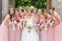 Brides & Bridesmaids Photos - Strapless Pink Bridesmaid ...