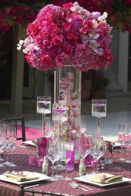 Pink  White Wedding at a Cliffside Estate in California