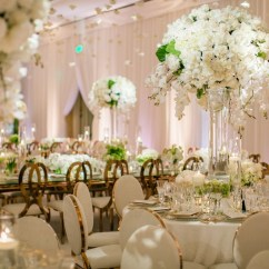 Table And Chair Rentals Houston Black Leather Dining Chairs Nz Reception Décor Photos - Tall White Centerpiece & Rose Gold Inside Weddings