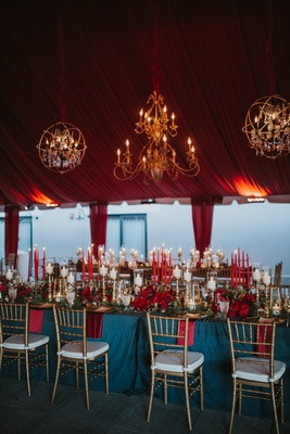 A Pro Tennis Players Fall Wedding Featuring a Moody Color
