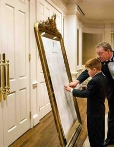 also reception decor photos gold frame seating chart inside weddings rh insideweddings