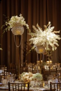New Year's Eve Wedding with Glittering Metallic Details in