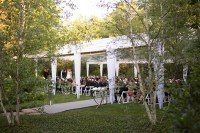 Contemporary, Backyard White Wedding Under Clear Tent in ...