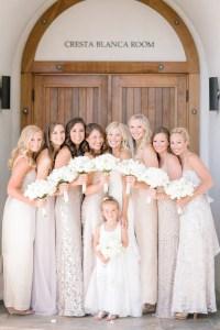 Brides & Bridesmaids Photos - Neutral Long Bridesmaid ...