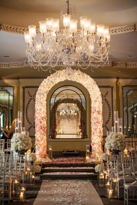 Formal Manhattan Wedding with Opulent Ballroom Dcor
