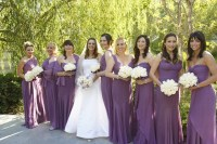 Brides + Bridesmaids Photos - Purple Bridesmaid Dresses in ...