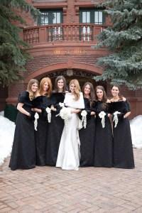 Brides & Bridesmaids Photos - Black Bridesmaid Dresses ...