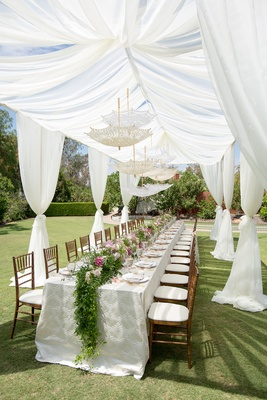 Romantic Vintage Inspired Outdoor Bridal Shower With