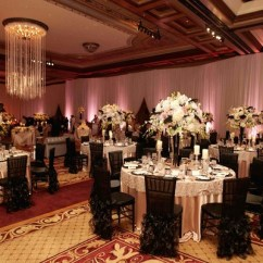 Chair Covers At Wedding Reception Wingback Club Recliner Pink Black The Grand Del Mar In San Diego California Ballroom Tables Surrounded By